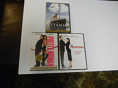 The Proposal/ Titanic/ Pretty Woman Dvd Lot Of 3  Special Sale