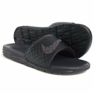 Nike Benassi Solarsoft Mens Size 11 Black/Anthracite 705474 091