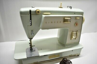 Nice Vintage Singer Touch & Sew Model 417 Portable Sewing Machine W/ Pedal CR303