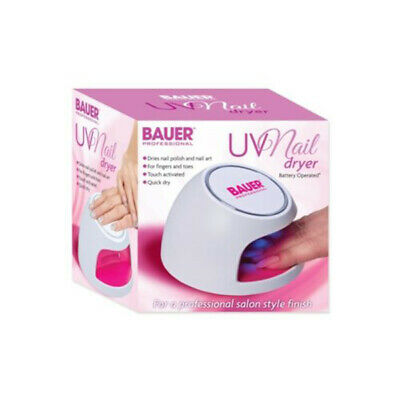Bauer Battery Operated UV Nail Dryer Quick Dry Salon and Home Use Nail Dryer