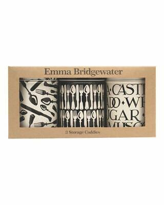 Emma Bridgewater Knives and Fork Set of 3 Kitchen Caddies Cannister Tins - NEW
