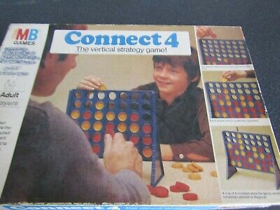 1975 Original Connect 4 Four Board Game MB Games used Condition Vintage Retro