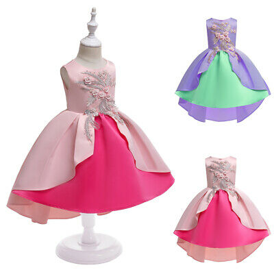 Baby Flower Girls Party Dress Bridesmaid Princess Christmas Birthday Prom Gowns
