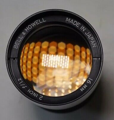 Bell And Howell 16mm. 2 Inch f/1.2 Lens. Made in Japan