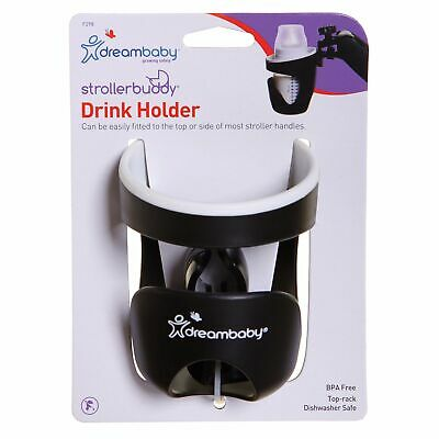 Dreambaby Baby / Kids / Childs Strollerbuddy Drink Holder Black