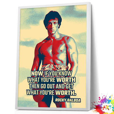 Rocky Balboa Quote Motivational Movie TV Film Picture - Poster UNFRAMED