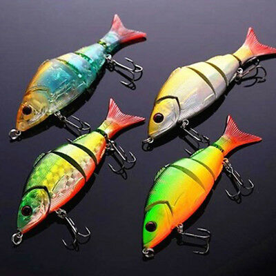 Multi-jointed Bass Pike Fishing Lure Crank Bait Swimbait Shad Minnow Rand oolk