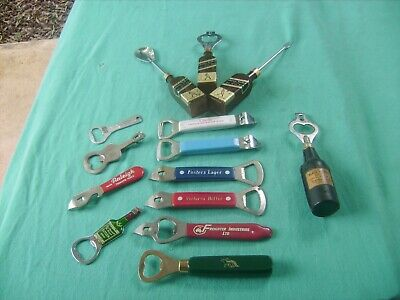 VINTAGE BOTTLE OPENERS and some Bar  Gear found in Storage