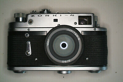 Zorki 4 with jupiter 8 lens,leather case and instructions