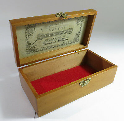 Refinished Late 1800s Solid Oak Charles Higgens 6 Soap Cake Storage Box.