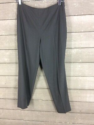 Talbots 337  Black Side Zip Stretch Tapered Dress Pants Women's 6P