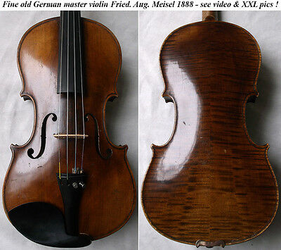 OLD GERMAN VIOLIN F. A. MEISEL 1888 - see video ANTIQUE MASTER バイオリン скрипка 977