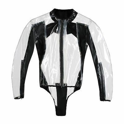 ABVERKAUF! DAINESE RAIN BODY RACING D1 TRANSPARENT/BLACK Gr. M