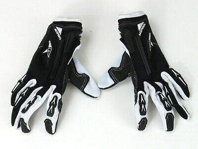 ABVERKAUF! ACERBIS MOTO BRAND KID GLOVES  BLACK/WHITE Gr. XS