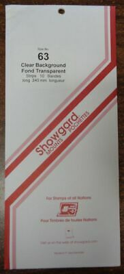 Showgard size 63 Clear hingeless stamp mount NEW unopened pack 1st quality 240mm