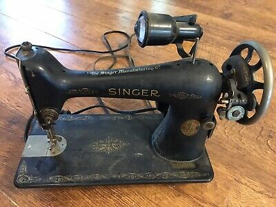 Vintage Singer Sewing Machine AC869294 Treadle/Electric - Working Condition