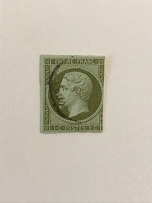 "FRANCE STAMP TIMBRE N° 11 "" NAPOLEON 1c 1860 "" OBLITERE"