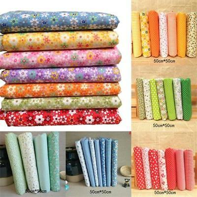 7pcs/set 50*50cm Fabric Bundle Cotton Patchwork Sewing Quilting Tissue Cloth