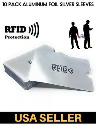 10 Pack RFID Blocking Sleeves Credit Card Protector Passport Card Identity Theft