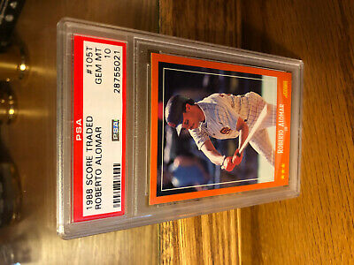 1988 Score Traded Roberto Alomar #105T Rc Rookie Psa 10
