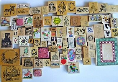 Lot 81 VGUC *RUBBER STAMPS* By All Night Media, Hero Arts, PSX, Rubber Stampede