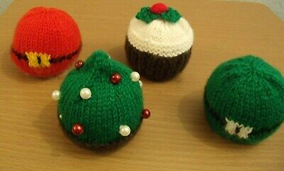 4 Chocolate Orange covers knitting pattern Xmas Pudding/Elf Coat/Santa Coat/Tree