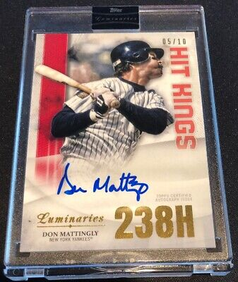 2019 Topps Luminaries Baseball DON MATTINGLY # /10 HIT KINGS AUTOGRAPH Card