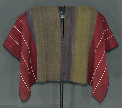 EXTRAORDINARY AYMARA INDIAN LEADER´S PONCHO COVER 19th c. Cochineal Dyes TM13059