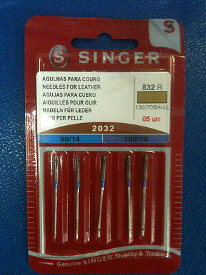 Singer Sewing Machine Assorted Leather Needles 2032
