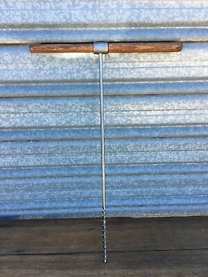 "Rare Vintage Titan Australia 3/8"" Hand Auger Drill Framing Woodwork Old Tools #7"