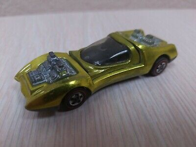 Hot Wheels Redline Yellow MOD QUAD 1969 Black Interior Mattel Vintage Near Mint!