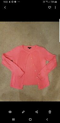 Tommy Hilfiger Girls Knit Cardigan Fushia Sz 12-14