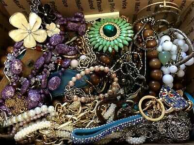 Junk Drawer Jewelry Lot - Wear, Repair And Scrap - 8 Pounds 2 Ounces - 3476