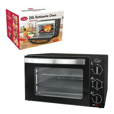 Quest 20L Rotisserie Oven Multi-Function Oven Grill, Bake, Toast, Rotisserie
