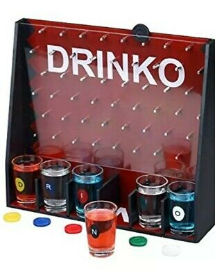 DRINKO NOVELTY DRINKING GAME Shot Glass Social Party Game College PLINKO
