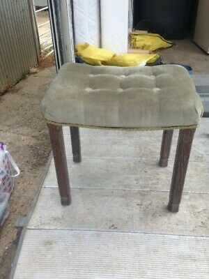 Rare ORIGINAL King George VI Coronation Stool 1937 LIMED OAK BY MAPLE & CO