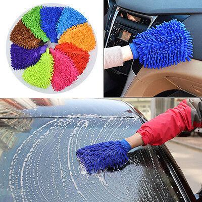 MICROFIBRE CLEANING CAR WASH WASHING MITT GLOVE POLISHING SHAMPOO DUSTER  Best
