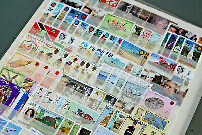 British Commonwealth - Double Sided S/Sheet With Apx 50 U/Mint Sets