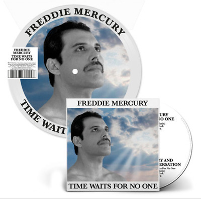 """Freddie Mercury Time Waits For No One 7"""" Picture Vinyl + Cd Single Sold Out Ltd"""