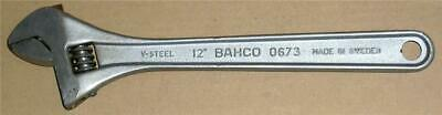 "Vintage Bahco 12"" Adjustable Spanner Wrench V-Steel Made In Sweden."