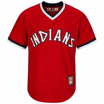 Majestic Cooperstown Cool Base Jersey - Cleveland Indians - XXL