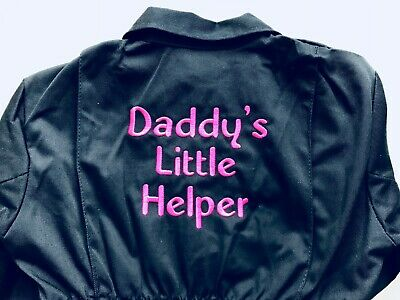 Daddy's Little Help Boiler Suit/Kids Coveralls.Personalised with name on front