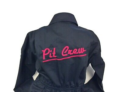 Pit Crew Child's Boiler Suit/Kids Coveralls.Personalised free with name on front