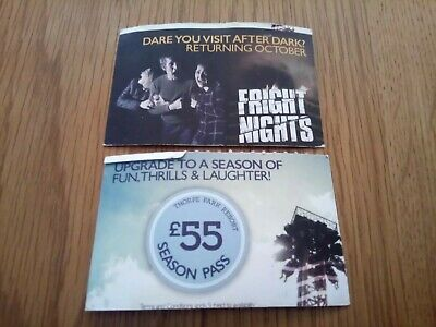 Pair Thorpe Park Tickets Valid Until 30 Sept. Park Closed Some Days, See Details