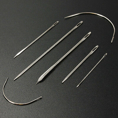 2 Set of 14 Hand Repair Upholstery Sewing Needles Carpet Leather Curved C rlll