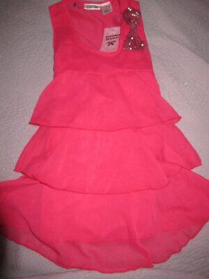 nwt Scooter Brown crimson chiffon tiered ruffle sequin bow top girls 10 12