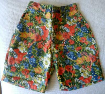 Fab Vintage 1980'S Corfu Jeans Flowery Cotton Drill Shorts 8