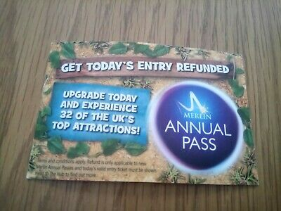 1 Chessington Ticket - Valid Til Oct 16Th. Park Closed Some Days See Details