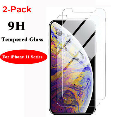 2-Pack For iPhone 11 /11 Pro /11 Pro Max 2019 Tempered Glass Screen Protector UK