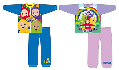 Boys & Girls Teletubbies Pyjamas Kids Cbeebies Teletubbies Sleepwear Age 12M-4